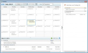 QuickBooks 2012 Calendar View